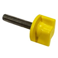 Yellow Locking Screw for NuFish Adaptor from the Aqualock Side Tray